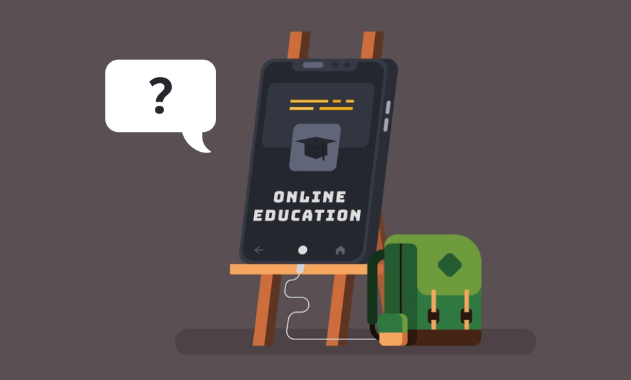Gambar : Online education dan digital learning