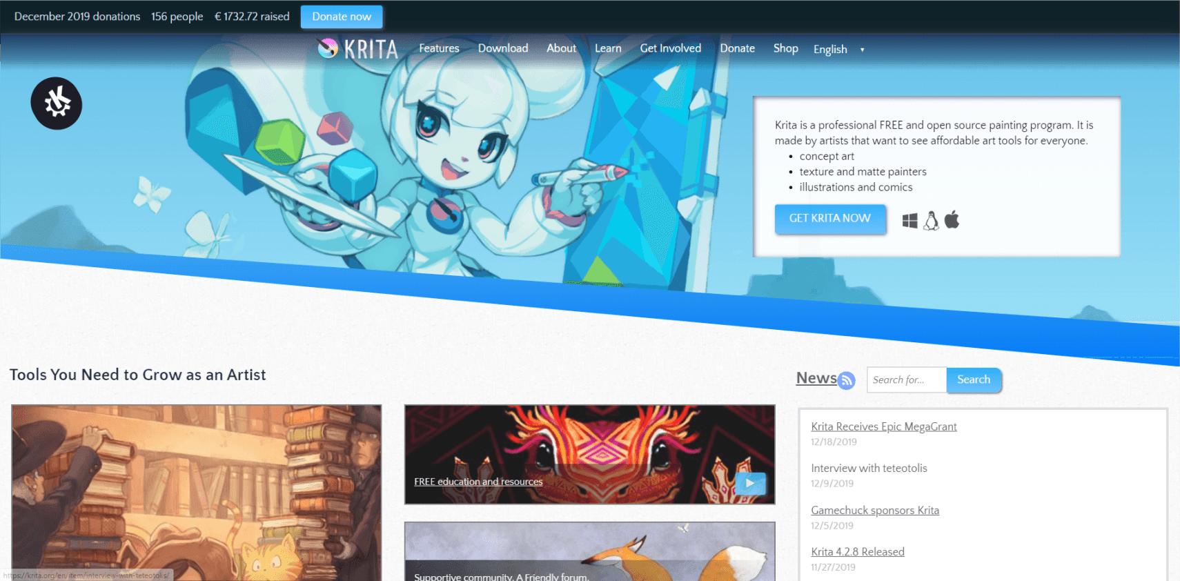 Krita Software Khusus Digital Painting Gratis Saingan